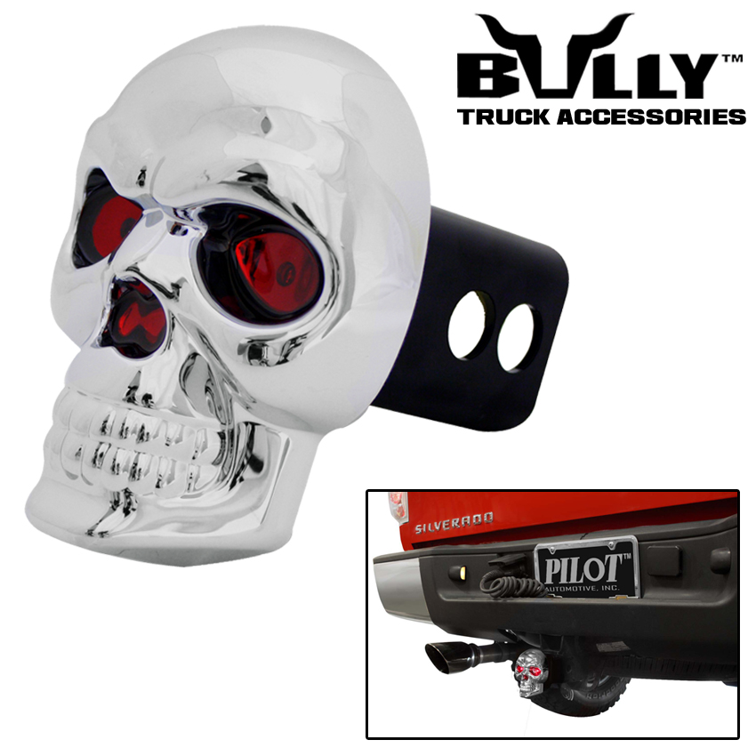 """BULLY SKULL 1.25"""" & 2"""" TRAILER TOWING TOW HITCH RECEIVER ..."""